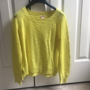 MOSSIMO SUPLY CO. Yellow sweeter S/P